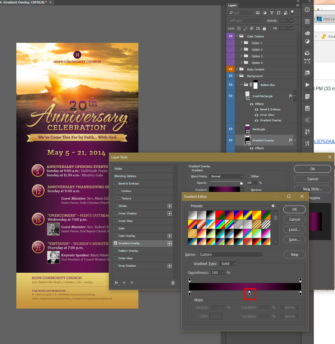 Photoshop Gradient Editor - Color Stop