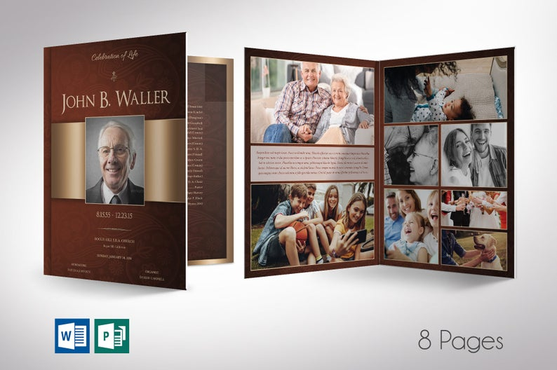 Copper Funeral Program Word Publisher