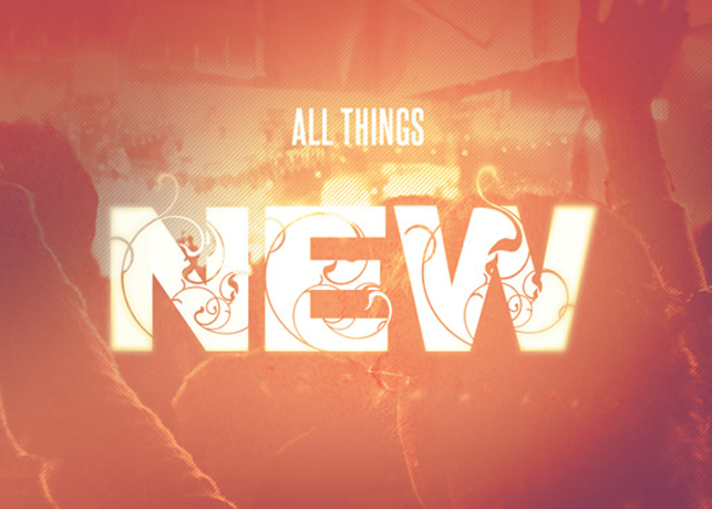All Things New Church Postcard Template