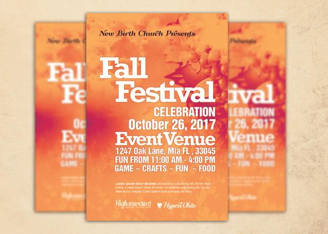 Fall Festival Church Flyer Template