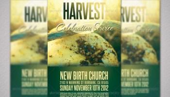 Harvest sunday service flyer template inspiks market harvest and thanksgiving church flyer template saigontimesfo