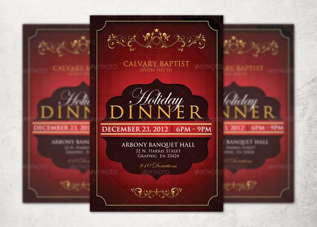Holiday Dinner Church Flyer Template Inspiks Market