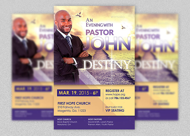 Church conference flyer template inspiks market for Free church flyer templates photoshop