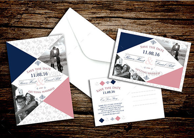 Retro Save The Date Flyer Template Inspiks Market - Save the date flyer template