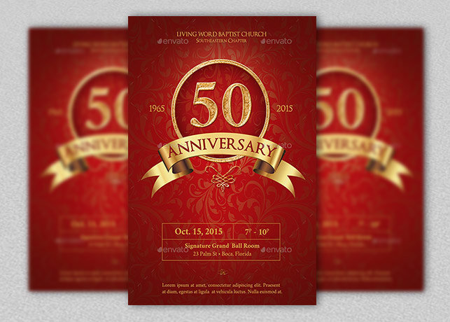 Anniversary Flyer Template  Inspiks Market