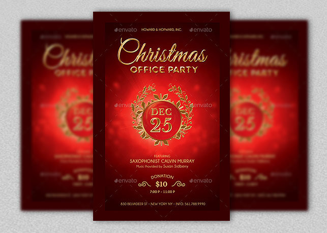 Christmas Party Flyer Template | Inspiks Market
