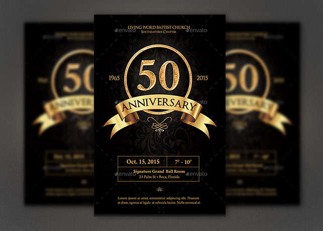 Anniversary Flyer Photoshop Template