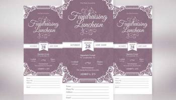 Holiday banquet ticket template inspiks market vintage luncheon ticket template pronofoot35fo Images