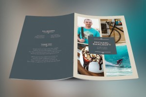 Oceans Funeral Program Template - 8 Pages