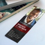 Red Rock Funeral Bookmark Word Publisher Template