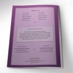 Purple Diamond Funeral Program Word Publisher Template