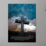Cross of Love Metal Poster by Godserv Designs