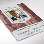 Wood Funeral Program Word Publisher Template
