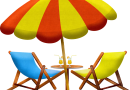 Beach Furniture Umbrella Chair  - AnnaliseArt / Pixabay
