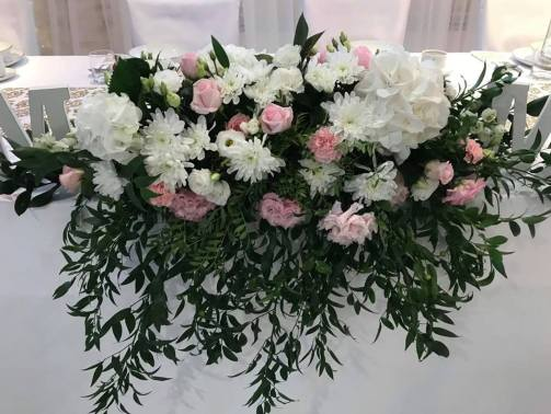 Dekoracja ślubna - Złoto i róż