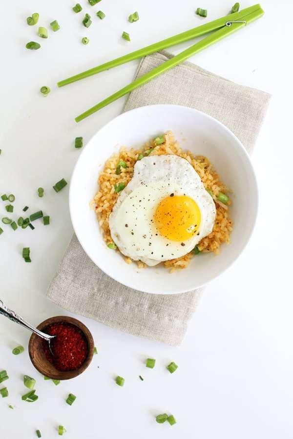 Ginger Daikon Radish quotRicequot with Gochugaru and Fried Egg