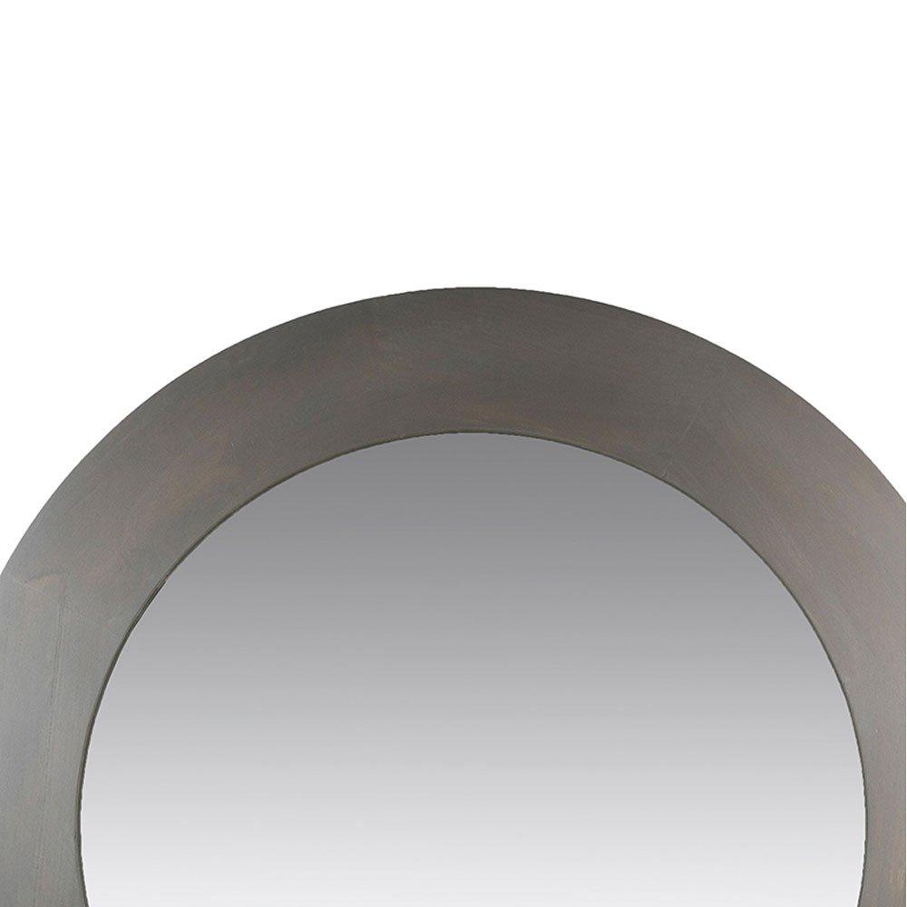 miroir rond contemporain gris souris en bois de paulownia diametre 120 cm
