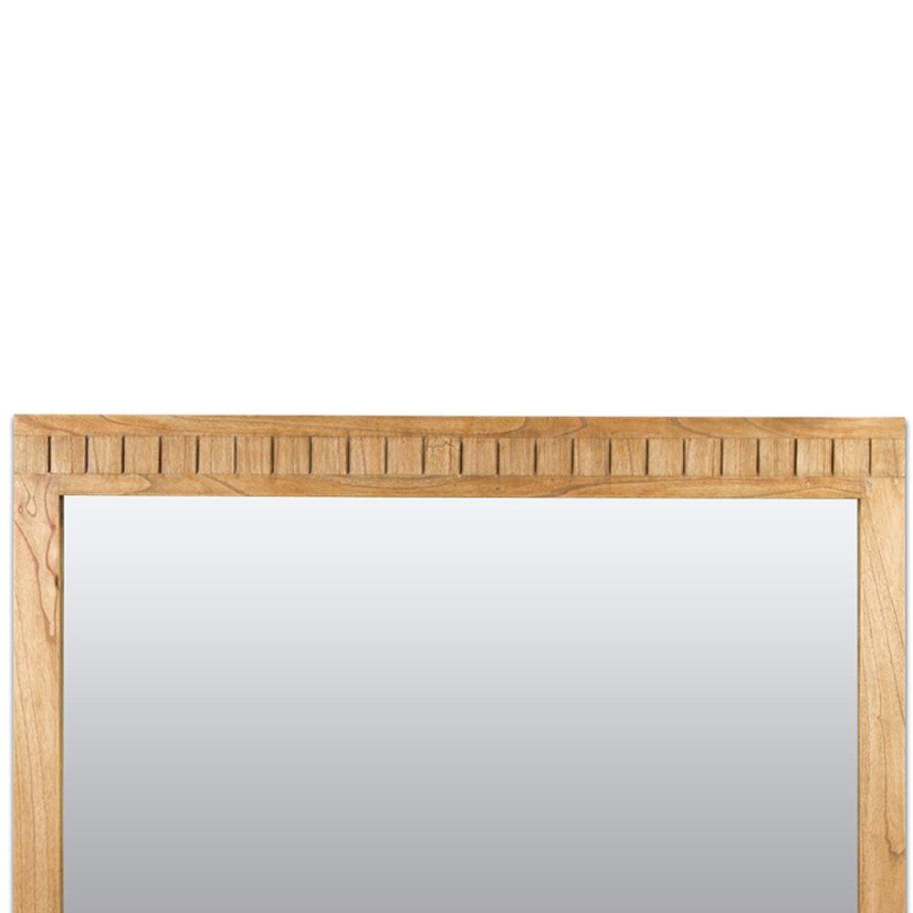 Miroir Rectangulaire Style Scandinave En Bois Exotique De Mindi