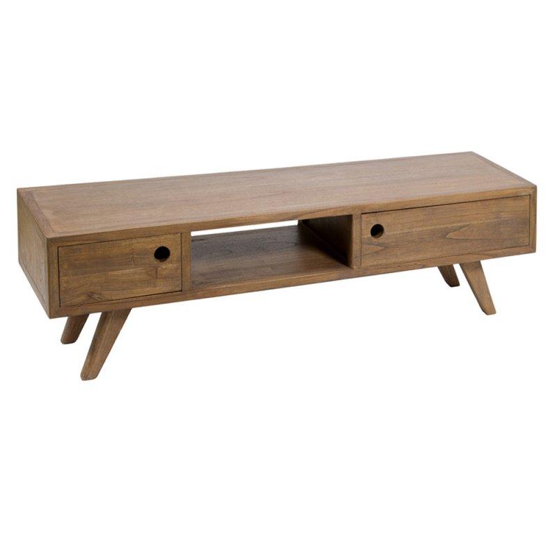 meuble tv en bois de mindy 160 x 45 cm inspiration luxe