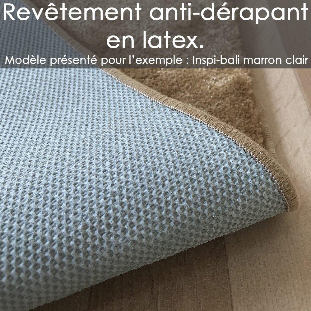 tapis rond sur mesure de luxe lavable en machine turquoise doux aspect viscose