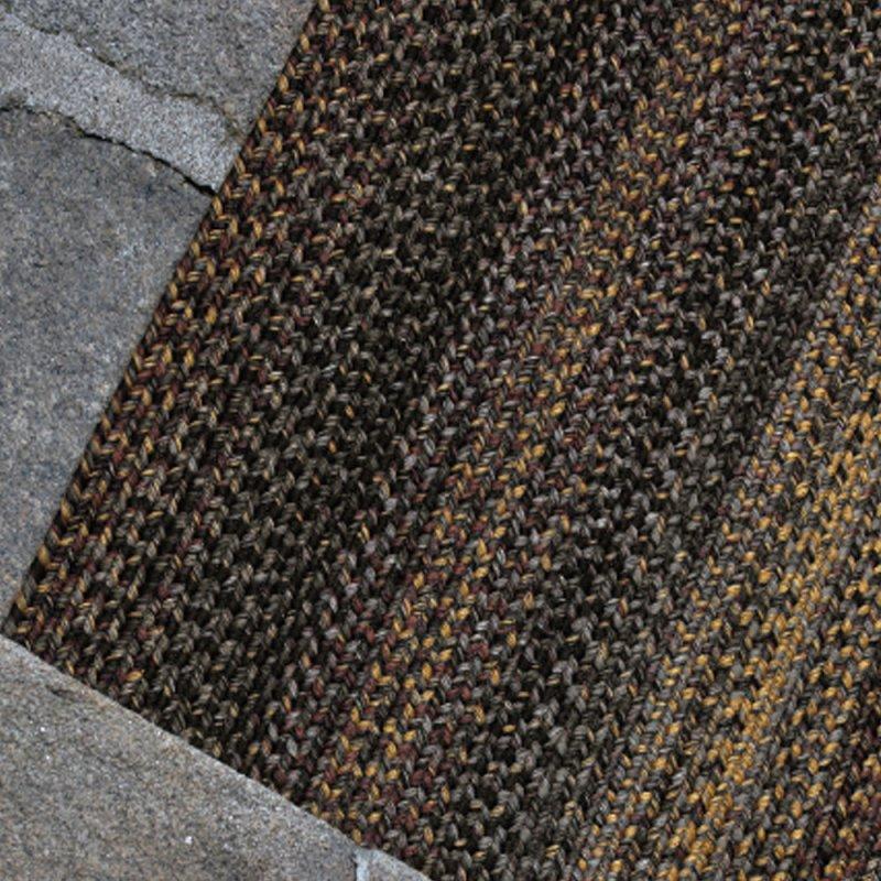 tapis d exterieur gris et jaune en polypropylene inspiration luxe