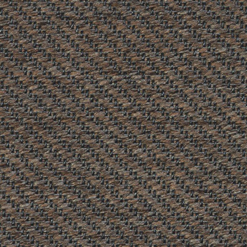 tapis d exterieur sur mesure marron et gris en polypropylene finition surjet