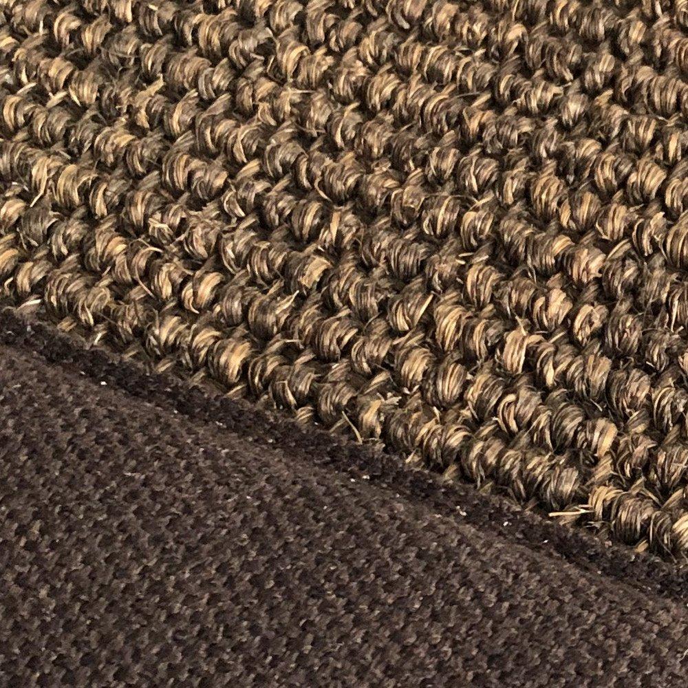 tapis sur mesure en sisal cacao finition gansee