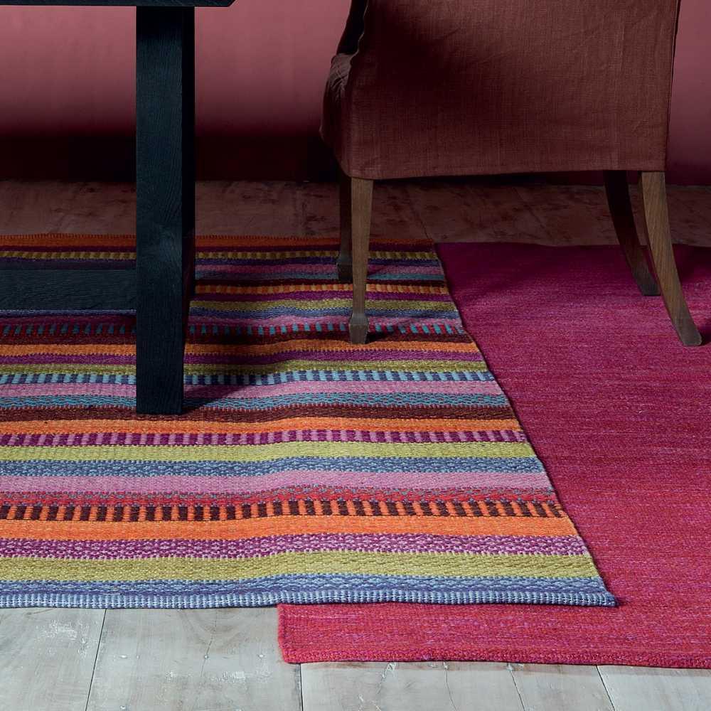 https www inspiration luxe com tapis design multicolore 404 tapis design raye multicolore couleurs vives fait main 100 laine par ligne pure html