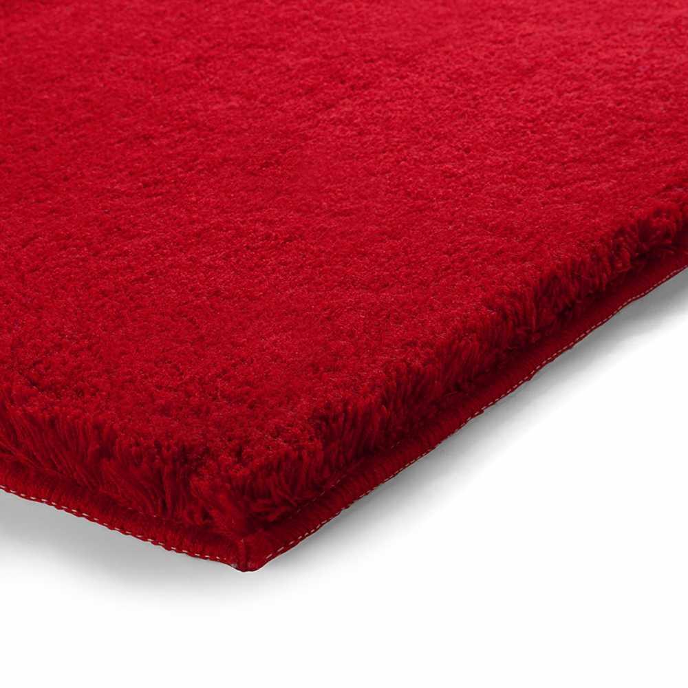 tapis de salle de bain de prestige rouge