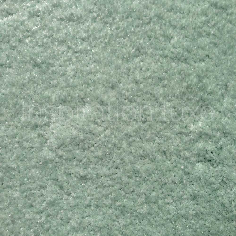 tapis rond sur mesure vert moelleux par inspiration luxe editions
