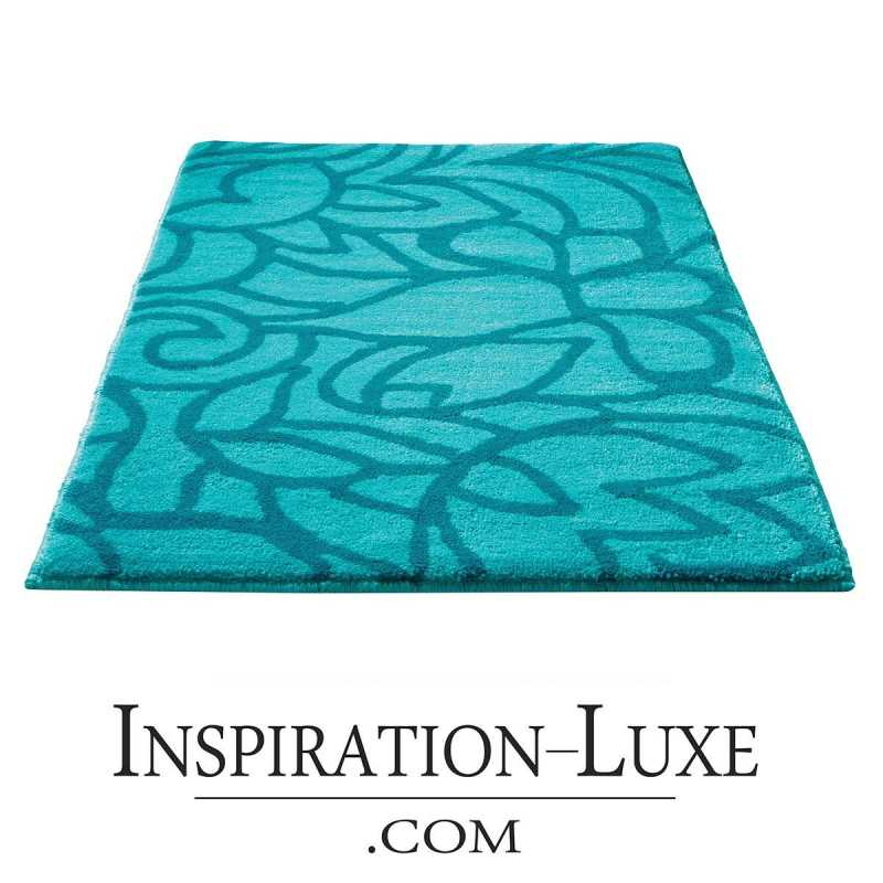 tapis de salle de bain haut de gamme bleu