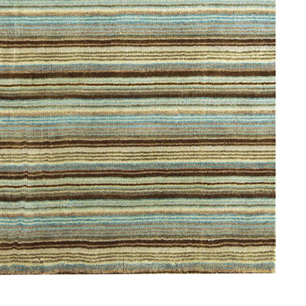https www inspiration luxe com tapis de luxe avec des lignes 1083 tapis multicolore design raye bleu et marron en laine fait main en inde html