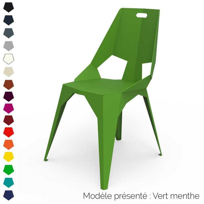 chaise design en metal personnalisable interieur et exterieur