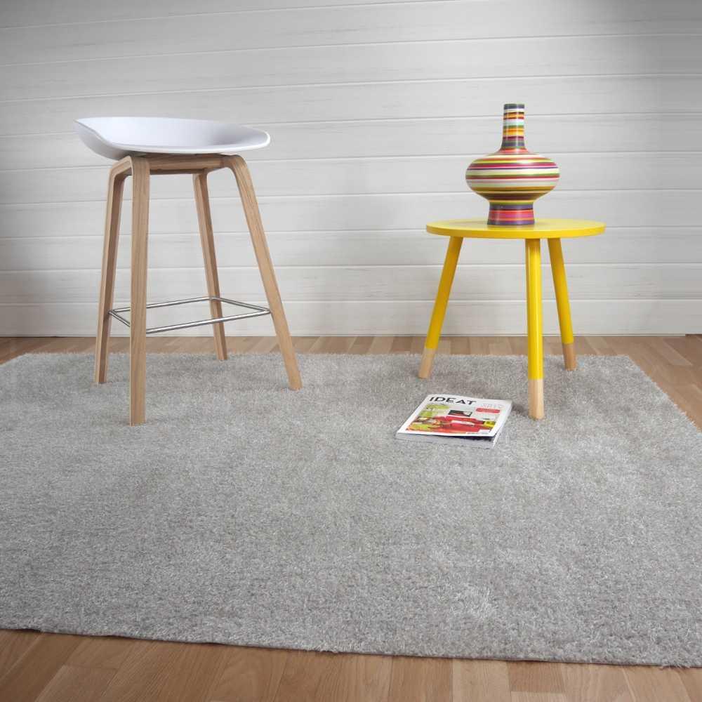 tapis gris clair lavable en machine sur mesure