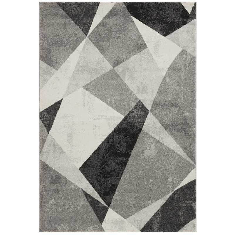 tapis de luxe design nuances de gris avec formes geometriques par joseph lebon
