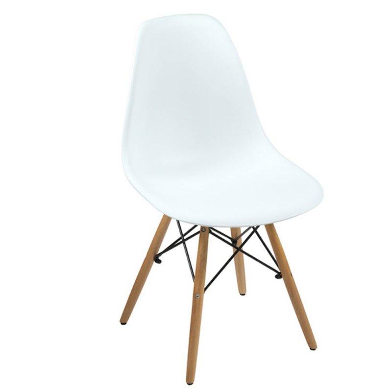 lot de 4 chaises scandinave blanche design en polypropylene inspiration luxe