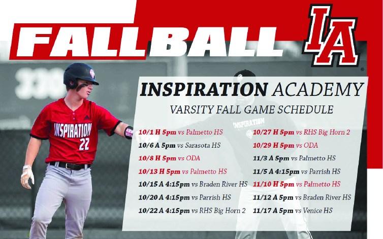 Inspiration Academy Baseball Joins Top Local Programs To Form Manasota Fall League