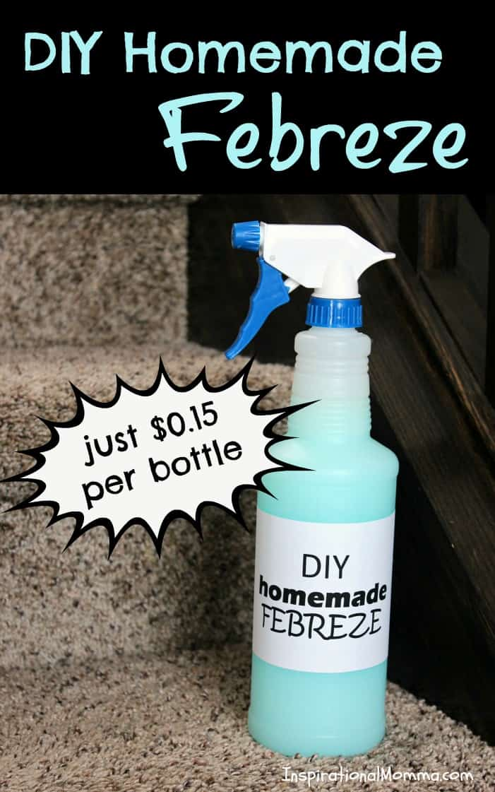 With just 4 ingredients, this DIY Homemade Febreze will keep you on a budget and