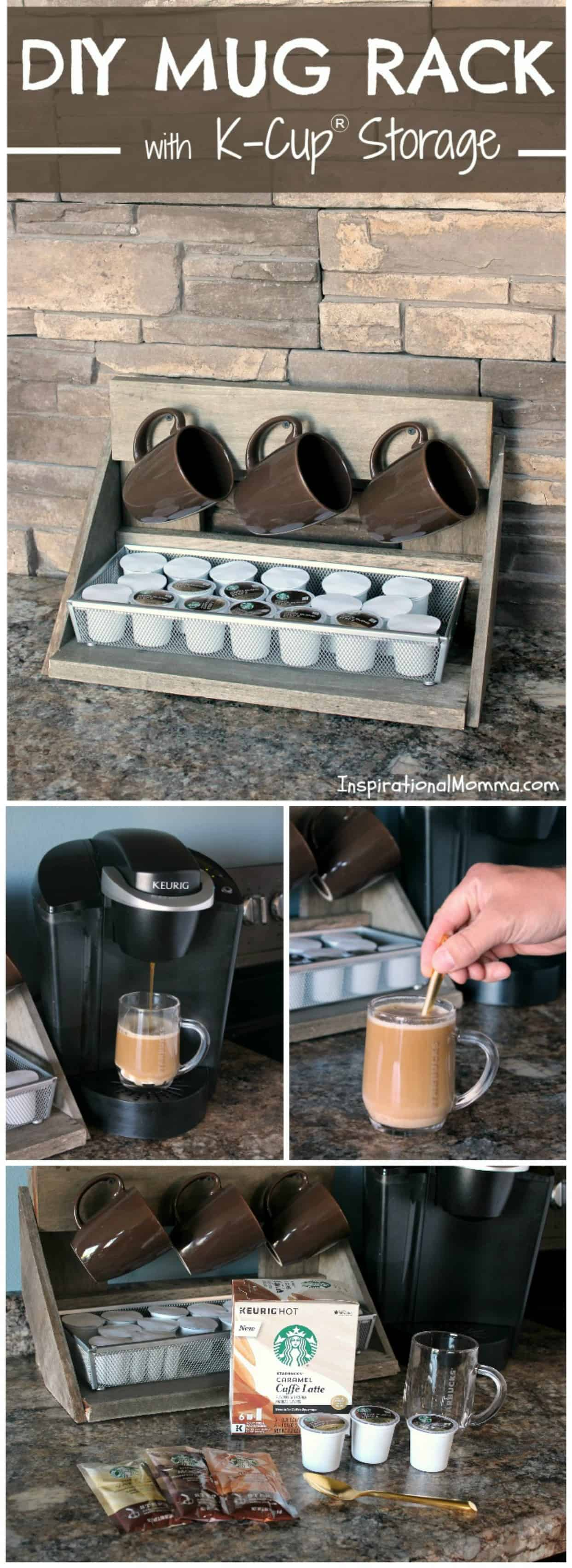 Make Your Own DIY Mug Rack With K Cup® Storage! A Beautiful Addition