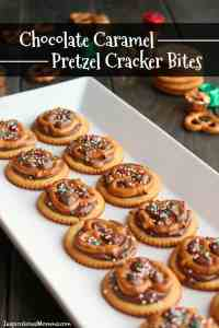 Chocolate Caramel Pretzel Cracker Bites