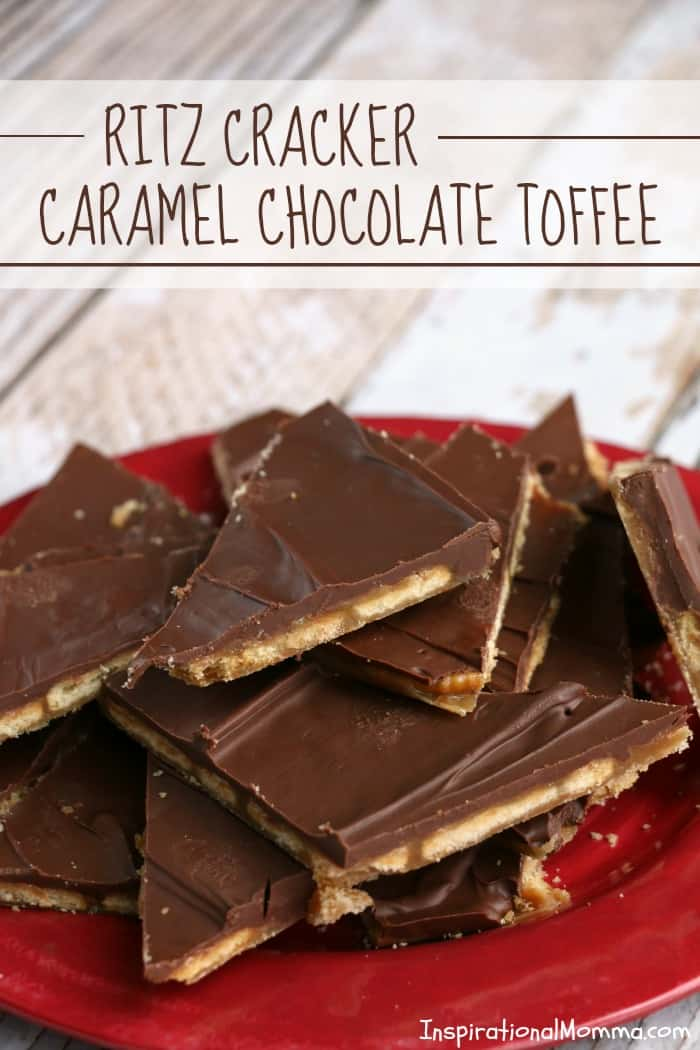 With only 4 ingredients, Ritz Cracker Caramel Chocolate Toffee is simple but absolutely irresistible! A perfect combination of flavors!