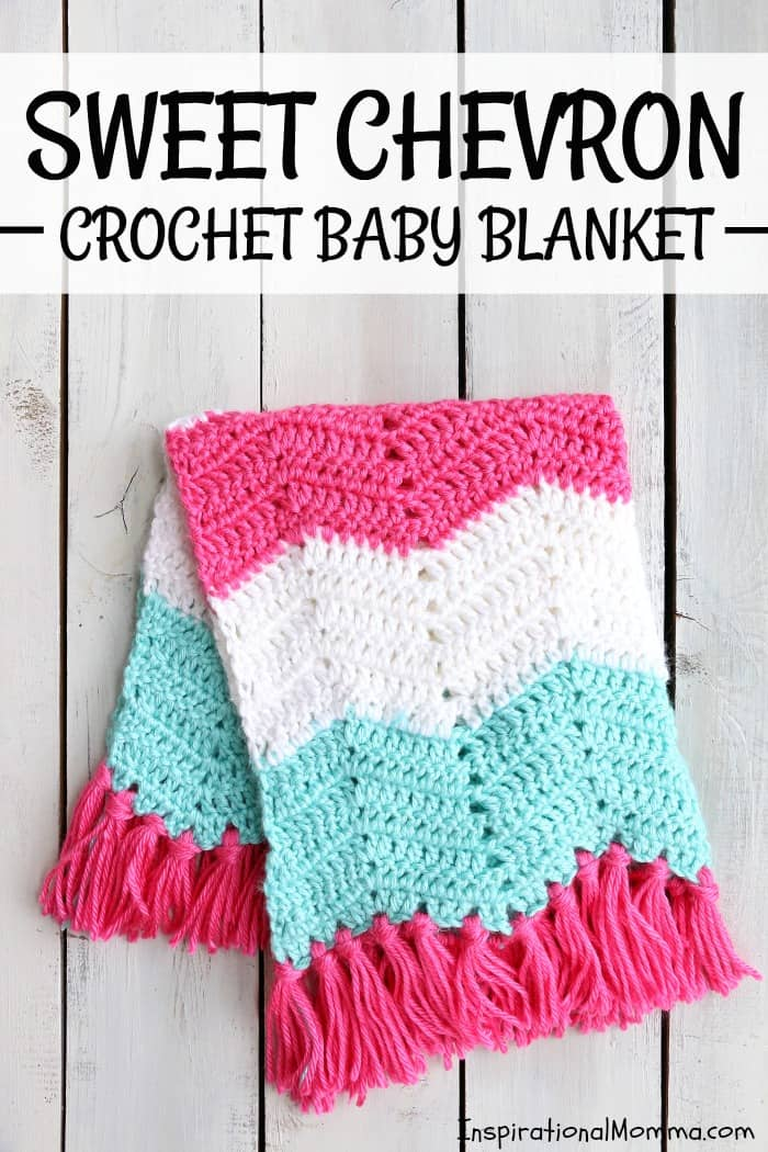 Sweet Chevron Pattern Crochet Baby Blanket Inspirational Momma