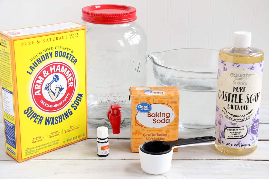 This Homemade Liquid Laundry Detergent will leave your clothes clean and smelling fresh while saving you