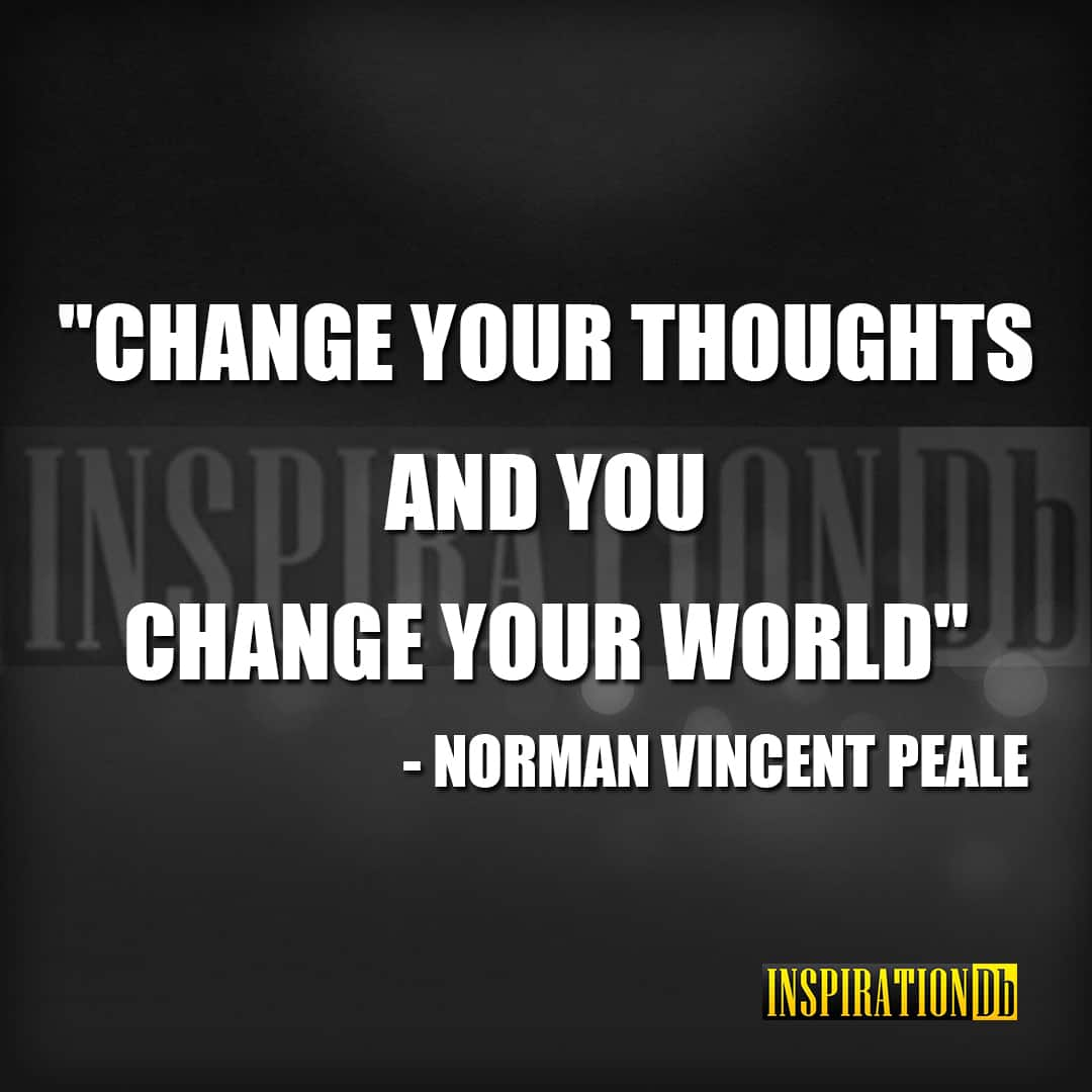 Norman Vincent Peale Quote Poster