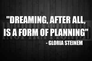 Gloria Steinem Quote Poster