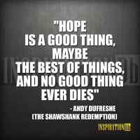 Andy Dufresne (The Shawshank Redemption) Quote Poster