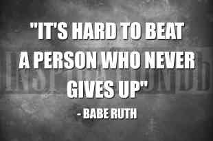 Babe Ruth Quote Poster
