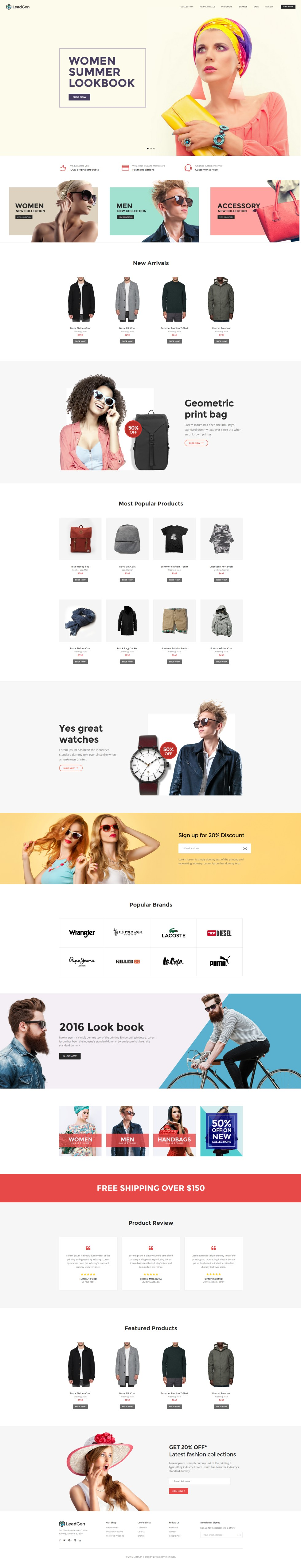LeadGen – Multipurpose Marketing Landing Page – Online ...