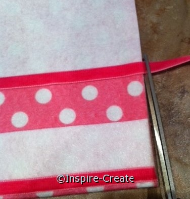 trim felt with hot pink velvet ribbon