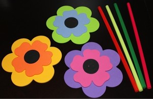 Foam Flower Straw Supplies Needed